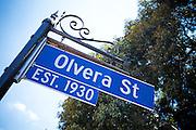 Olvera Street Sign Downtown LA