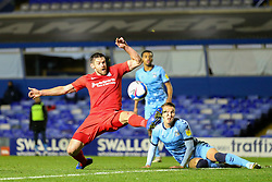 Birmingham City's Lukas Jutkiewicz just fails to connect with a cross on the edge of the 6-yard box - Mandatory by-line: Nick Browning/JMP - 20/11/2020 - FOOTBALL - St Andrews - Birmingham, England - Coventry City v Birmingham City - Sky Bet Championship