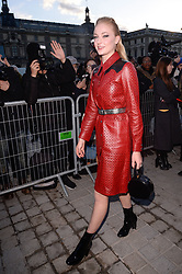 Sophie Turner arriving at the Louis Vuitton show as part of the Paris Fashion Week Womenswear Fall/Winter 2018/2019 in Paris, France on March 6, 2018. Photo by Julien Reynaud/APS-Medias/ABACAPRESS.COM