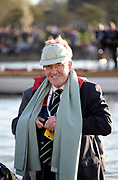 Putney/Mortlake, GREATER LONDON. United Kingdom. 2017 Women's and Men's University Boat Races, held over, The Championship Course, Putney to Mortlake on the River Thames. 2017 Past, FISA official and Chairman Henley Royal Regatta. Mike SWEENEY, Sunday  02/04/2017, <br /> <br /> [Mandatory Credit; Intersport Images]