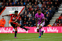 Football - 2016 / 2017 Premier League - AFC Bournemouth vs. Hull City<br /> <br /> Bournemouth's Jordon Ibe shoots past Tom Huddlestone of Hull City at Dean Court (The Vitality Stadium) Bournemouth<br /> <br /> Colorsport/Shaun Boggust