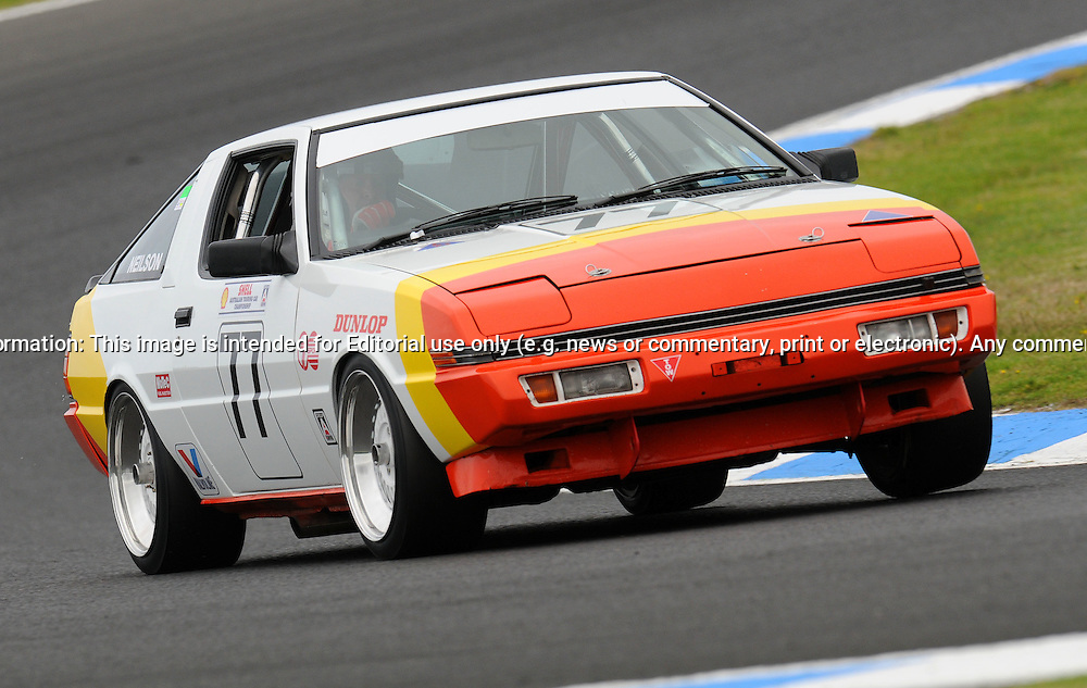 Craig Neilson - Mitsubishi Starion - Group C.Historic Motorsport Racing - Phillip Island Classic.18th March 2011.Phillip Island Racetrack, Phillip Island, Victoria.(C) Joel Strickland Photographics.Use information: This image is intended for Editorial use only (e.g. news or commentary, print or electronic). Any commercial or promotional use requires additional clearance.