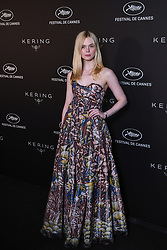 Elle Fanning arrives for the Kering Women In Motion Awards and Cannes Film Festival Official Dinner at Place de la Castre on May 19, 2019 in Cannes, France, as part of 72nd Cannes Film Festival. Photo by Ammar Abd Rabbo/ABACAPRESS.COM