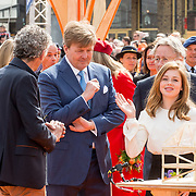 NLD/Groningen/20180427 - Koningsdag Groningen 2018, Koning Willem Alexander en prinses Alexia