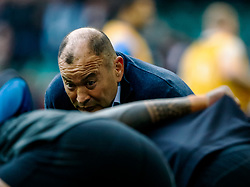 Head Coach Eddie Jones of England during the pre match warm up<br /> <br /> Photographer Simon King/Replay Images<br /> <br /> Six Nations Round 3 - Wales v England - Saturday 23rd February 2019 - Principality Stadium - Cardiff<br /> <br /> World Copyright © Replay Images . All rights reserved. info@replayimages.co.uk - http://replayimages.co.uk