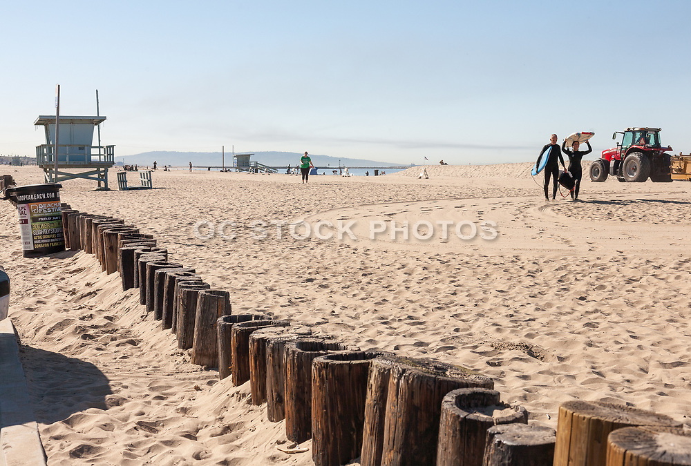 Surfers Walking on Venice Beach