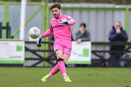 Forest Green Rovers goalkeeper James Montgomery during the EFL Sky Bet League 2 match between Forest Green Rovers and Lincoln City at the New Lawn, Forest Green, United Kingdom on 2 March 2019.