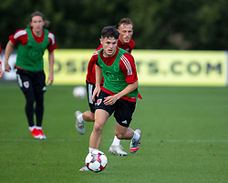 CARDIFF, WALES - Monday, August 31, 2020: Wales' Liam Cullen (Swansea City FC) during a training session at the Vale Resort ahead of the UEFA Under-21 Championship Qualifying Round Group 9 match between Bosnia and Herzegovina and Wales. (Pic by David Rawcliffe/Propaganda)