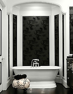 The master suite in the Bexley Home of Mark and Roseanne Rosen. (Will Shilling/Capital Style)