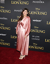 Gina Carano at the World premiere of 'The Lion King' held at the Dolby Theatre in Hollywood, USA on July 9, 2019.