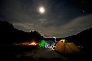 Camping was wonderful at Tianchih Lake.