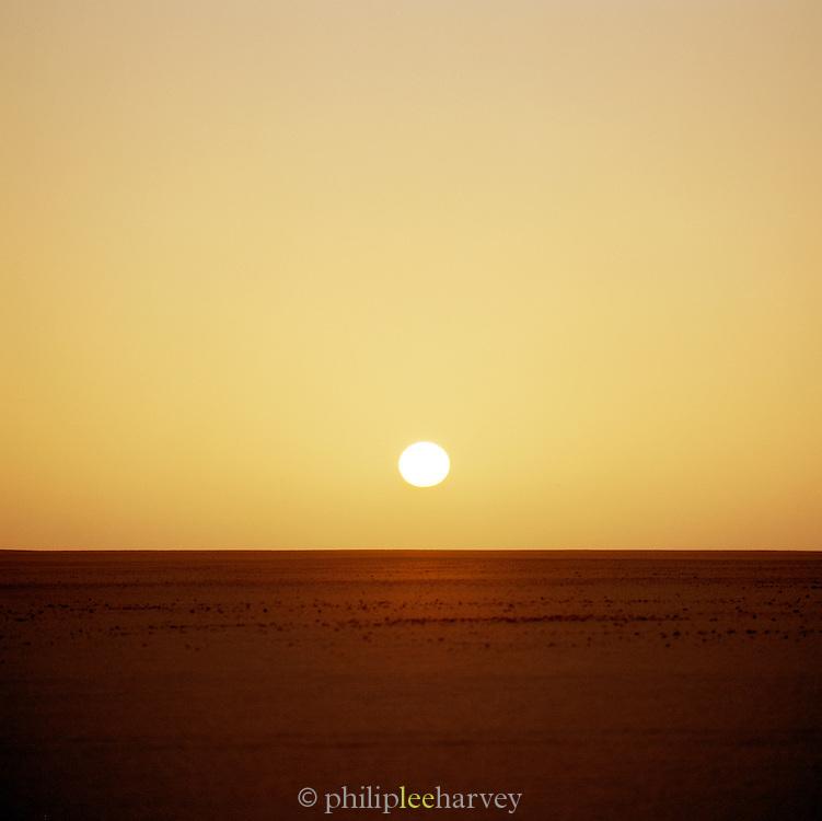 Sunset in the Sahara desert, Libya