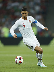 Cristiano Ronaldo of Portugal during the 2018 FIFA World Cup Russia round of 16 match between Uruguay and at the Fisht Stadium on June 30, 2018 in Sochi, Russia
