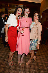 Left to right, YASMIN MILLS, SOPHIE ELLIS-BEXTOR and LAUREN KEMP at the Blue Monday Cheese Launch presented by Alex James and held at The Cadogan Hotel, Sloane street, London on 11th June 2013.