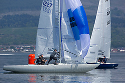 Day 3 Scottish Series, SAILING, Scotland.<br /> <br /> GBR 1227, Etchells, Bounce Back, CCC<br /> <br /> The Scottish Series, hosted by the Clyde Cruising Club is an annual series of races for sailing yachts held each spring. Normally held in Loch Fyne the event moved to three Clyde locations due to current restrictions. <br /> <br /> Light winds did not deter the racing taking place at East Patch, Inverkip and off Largs over the bank holiday weekend 28-30 May. <br /> <br /> Image Credit : Marc Turner / CCC