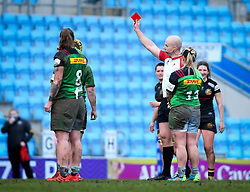 Emily Robinson of Harlequins is sent off - Mandatory by-line: Andy Watts/JMP - 06/02/2021 - Sandy Park - Exeter, England - Exeter Chiefs Women v Harlequins Women - Allianz Premier 15s