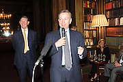 BILL CASH; MICHAEL GOVE, Celebration of the  200TH Anniversary of the  Birth of Rt.Hon. John Bright MP  and the publication of <br /> ÔJohn Bright: Statesman, Orator, AgitatorÕ by Bill Cash MP. Reform Club. London. 14 November 2011. <br /> <br />  , -DO NOT ARCHIVE-© Copyright Photograph by Dafydd Jones. 248 Clapham Rd. London SW9 0PZ. Tel 0207 820 0771. www.dafjones.com.<br /> BILL CASH; MICHAEL GOVE, Celebration of the  200TH Anniversary of the  Birth of Rt.Hon. John Bright MP  and the publication of <br /> 'John Bright: Statesman, Orator, Agitator' by Bill Cash MP. Reform Club. London. 14 November 2011. <br /> <br />  , -DO NOT ARCHIVE-© Copyright Photograph by Dafydd Jones. 248 Clapham Rd. London SW9 0PZ. Tel 0207 820 0771. www.dafjones.com.
