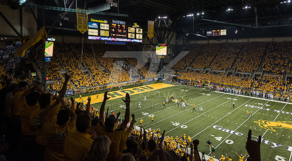 North Dakota State University vs. University of North Dakota at the Fargodome in Fargo, North Dakota on September 19, 2015.  This is the first meeting between the two schools in 12 years.  Photo by Ben Krause