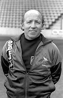 Nobby Stiles - West Bromwich Albion. Manager, <br /> Yyouth team Feb 1984-June 1989, except when manager Oct 1985-Feb 1986. Credit: Colorsport.