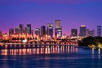 Miami Skyline from Miami Beach (Morning)