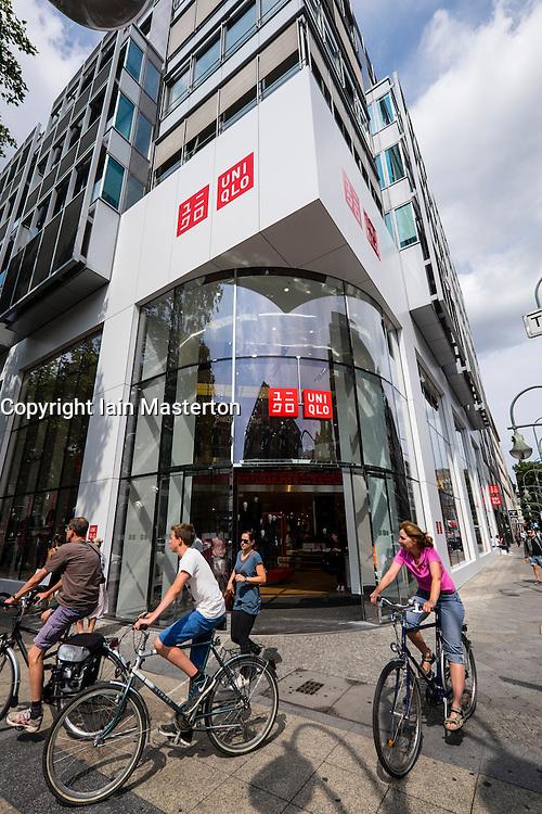 Uniqlo store on Tauentzienstraße in  Berlin Germany