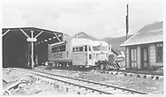 RGS Goose #3 southbound at Lizard Head snowshed and section house.<br /> RGS  Lizard Head, CO  Taken by Spencer, James - 7/9/1950