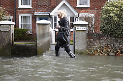 © Licensed to London News Pictures. 10/02/2020. Bosham, UK. High tides and strong winds hit Bosham as the effects of storm Ciara are still being felt in parts of the UK. Photo credit: Peter Macdiarmid/LNP