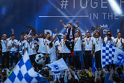 Brighton & Hove Albion players celebrate their Promotion to the Premier League with Brighton & Hove Chairman Tony Bloom - Mandatory by-line: Jason Brown/JMP - 14/05/17 - FOOTBALL - Brighton and Hove Albion, Sky Bet Championship 2017 - Brighton and Hove Albion Promotion Parade
