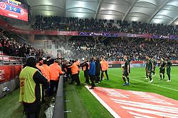 November 3, 2018 - Reims, France - EQUIPE DE FOOTBALL DE MONACO - SUPPORTERS - COLERE - ALTERCATION (Credit Image: © Panoramic via ZUMA Press)