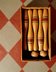 Antique bowling pins