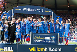 Inverness Caledonian Thistle win. Falkirk 1 v 2 Inverness CT, Scottish Cup final at Hampden.