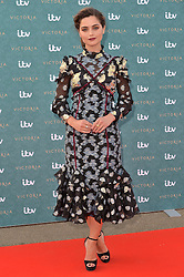 © Licensed to London News Pictures. 11/08/2016. JENNA COLEMAN attends the VIP press screening of Victoria. The ITV series traces the early life of Queen Victoria, from her accession to the throne at the tender age of 18 through to her courtship and marriage to Prince Albert.  London, UK. Photo credit: Ray Tang/LNP