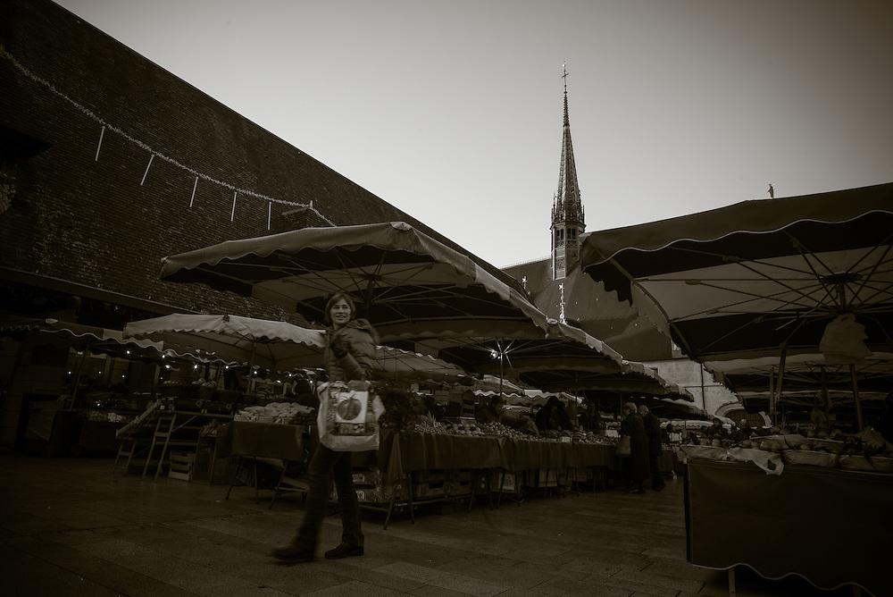 Farmer's market, Beaune, France. November 30, 2013. Photograph ©2013 Darren Carroll