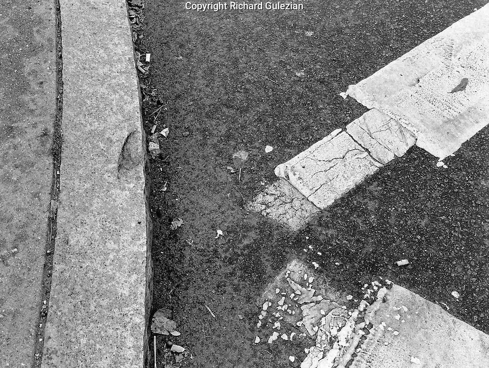 Kenmore Square, Boston 1982,  Abstract, Black and White