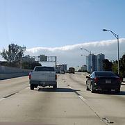 Vakantie Miami Amerika, Miami gezien vanaf de snelweg, Highway 1