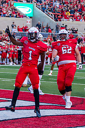 NORMAL, IL - September 04:  Nigel White celebrating a TD during a college football game between the Bulldogs of Butler University and the ISU (Illinois State University) Redbirds on September 04 2021 at Hancock Stadium in Normal, IL. (Photo by Alan Look)