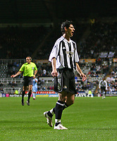 Photo: Andrew Unwin.<br /> Newcastle United v Celta Vigo. UEFA Cup. 23/11/2006.<br /> Newcastle's Albert Luque misses an early chance.