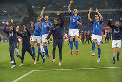 October 14, 2018 - Chorzow, Poland - The Italian team celebrate during the UEFA Nations League A match between Poland and Italy at Silesian Stadium in Chorzow, Poland on October 14, 2018  (Credit Image: © Andrew Surma/NurPhoto via ZUMA Press)