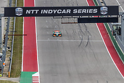 March 23, 2019 - Austin, Texas, U.S. - PATRICIO O'WARD (R) (31) of Mexico goes through the turns during practice for the INDYCAR Classic at Circuit Of The Americas in Austin, Texas. (Credit Image: © Walter G Arce Sr Asp Inc/ASP)