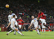 Manchester United's Paul Pogba fires in a shot  during the Premier League match at Old Trafford Stadium, London. Picture date December 26th, 2016 Pic David Klein/Sportimage