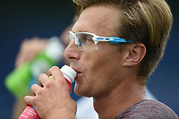 Peter Polansky on Day Six of the Fuzion 100 Surbiton Trophy at the Surbiton Racket & Fitness Club, Surrey, United Kingdom.<br /> Picture by Daniel Hambury/Focus Images Ltd 07813022858<br /> 07/06/2018