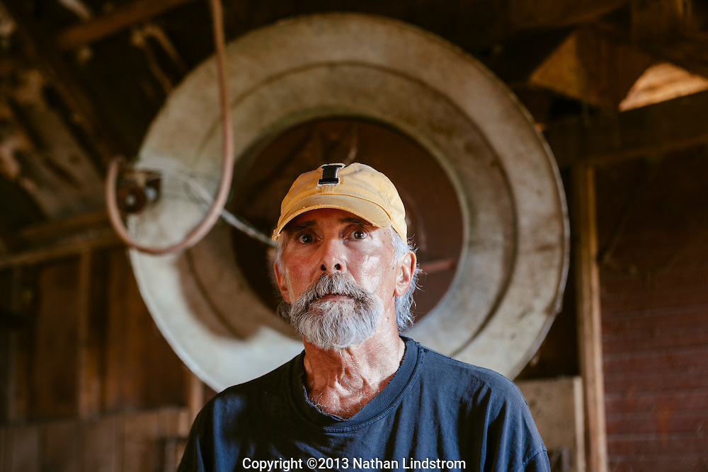 Portrait of a farmer.<br /> Country life and Agriculture.<br /> Photographed by editorial lifestyle photographer Nathan Lindstrom