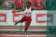 Divine Oladipo competing in the Women's Discus Throw Final. The British Championships 2016, athletics event at the Alexander Stadium in Birmingham, Midlands  on Sunday 26th June 2016.<br /> pic by John Patrick Fletcher, Andrew Orchard sports photography.