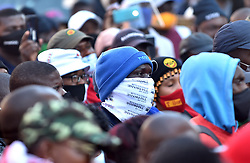 South Africa - Pretoria - 22 July 2020 - Workers affiliated to Samwu protest outside Tshwane House, demanding to see proof of benchmarking payments.<br /> <br /> Picture: Thobile Mathonsi/African News Agency(ANA)