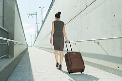 young woman on business travel