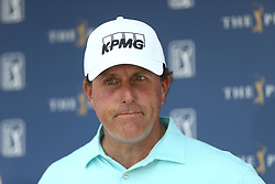 May 11, 2017 - Ponte Vedra Beach, Florida, United States - Phil Mickelson speaks to the media after the first round of The PLAYERS Championship at TPC Sawgrass. (Credit Image: © Debby Wong via ZUMA Wire)