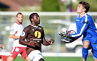 Fotball, 22. juli 2018 , OBOSligaen , 1. divisjon , Mjøndalen - Levanger<br /> Olivier Occean , MIF<br /> Jonatan Strans Byttingsvik , Levanger