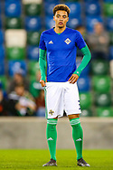 Northern Ireland defender Jamal Lewis warms up before the UEFA European 2020 Qualifier match between Northern Ireland and Estonia at National Football Stadium, Windsor Park, Northern Ireland on 21 March 2019.