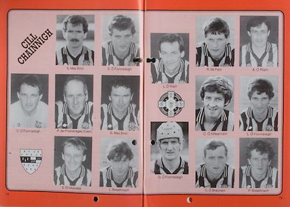 All Ireland Senior Hurling Championship Final, .06.09.1987, 09.06.1987, 6th September 1987, .Kilkenny v Galway, .Galway 1-12, Kilkenny 0-9,.06091987AISHCF, .Senior Kilkenny v Galway,.Minor Tipperary v Offaly,..Kilkenny, Mac Einri, S O Fionnalaigh, C O Fionnalaigh, P de Priondragas captain, G Mac Enri, S O hAonasa, L Breathnach, L O Riain, R de Paor, A O Riain, C O hlfearnain, L O Fionnalaigh, G O Fionnalaigh, C O Braonain, P Breathnach,