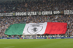 May 19, 2018 - Turin, Piedmont, Italy - Juventus fans celebrate the Scudetto's victory during the Serie A football match between Juventus FC and Hellas Verona at Allianz Stadium on May 19, 2018 in Turin, Italy. (Credit Image: © Massimiliano Ferraro/NurPhoto via ZUMA Press)